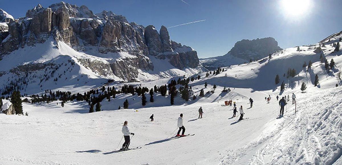 Op wintersport naar de Dolomieten